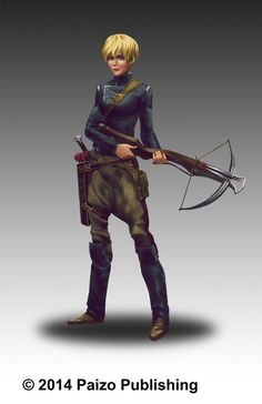 """Etrim from Paizo's Pathfinder Tales web fiction, """"Armored"""". Art by Dion Harris."""