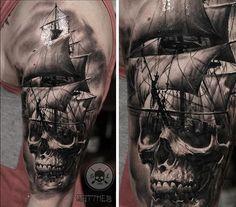 Nautical sleeve #tattoo #tattooart #tattooartist #ink #matthew_agius #skinlabel #skin #bnginksociety #blackandgrey #inkjecta #crazyytattoos