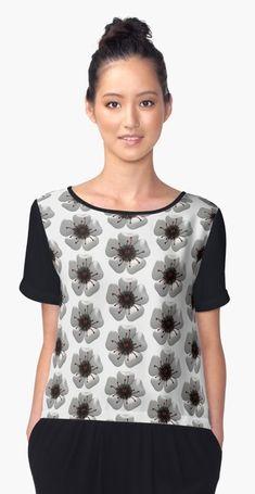 22a8a35293af3 Flower red   white t shirt   floral patern design modern