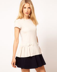 Top with Peplum and Bow