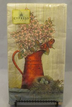 """Cypress Garden Room Guest Napkins Towels 20 Count 15.75"""" x 13"""" 3 Ply Flowers"""