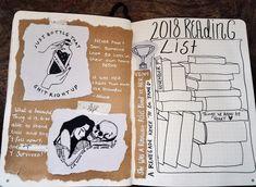 2018 reading list bullet journal