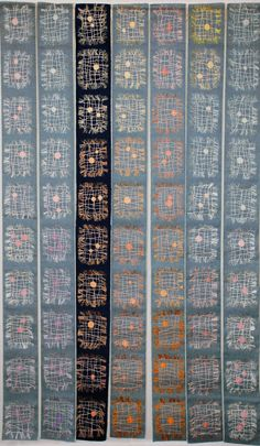 """""""Network"""" by Rosmarie Artmann-Graf:  Textile Art Forum: 25th anniversary of the Swiss Quilters' Guild."""