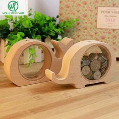 4 типы Симпатичные Животные Transparent Wood Сохранение Копилка Монета Запасной Изменение День Рождения подарки Копилка купить на AliExpress