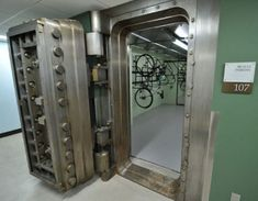 Very heavy antique vault door