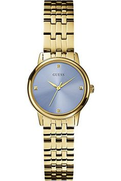 fd673b1323dc Ice Blue and Gold-Tone Sophisticated Diamond Watch at Guess