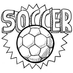 Superb Soccer Ball Coloring Page For Kids