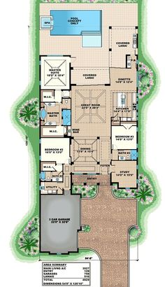 Plan 66342WE: 3 Bed Beauty with 2 Lanai