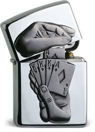 Original Zippo Trick Poker Lighter Very RARE Special Edition Casino Edition Poker, Cool Zippos, Edc, Zippo Collection, Cool Lighters, Light My Fire, Cigarette Case, Perfume, Polished Chrome