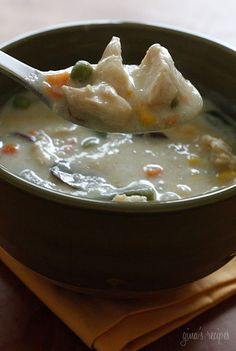 Chicken Pot Pie Soup - If you want to get fancy, you can serve this in hollowed out bread bowls or serve it with cut-out baked pie crust.