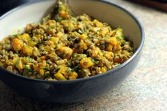 Lentils with Butternut Squash and Walnuts Recipe