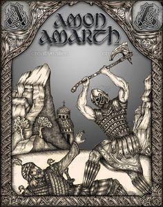 Amon+Amarth+Poster+by+Nikos+Chantzis+on+CreativeAllies.com