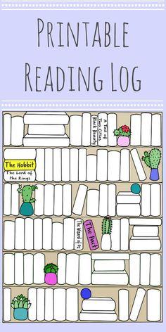 Book Shelf - Reading Tracker - Books to Read - Printable Bookshelf - Bullet Journal Books - Digital File - Books - Read - Tracker Reading Tracker, Reading Goals, Reading Lists, Readers Notebook, Readers Workshop, Reading Log Printable, Good Books, Books To Read, How To Bullet Journal
