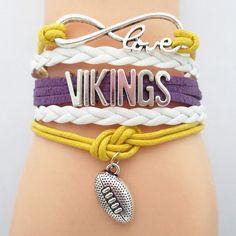 Minnesota Vikings Football Infinity Love Bracelet