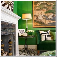Kelly Green wall paint is my new favorite.