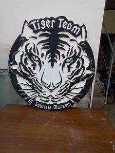 logo tiger realizzazione in polistirolo