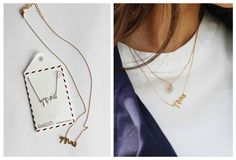 Gold or Silver Mrs Necklaces
