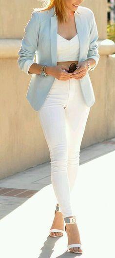 Outfits en tonos baby blue, un color que esta de moda este verano!!!