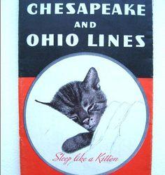 Chessie Kitten - Chesapeake and Ohio Lines Railroad