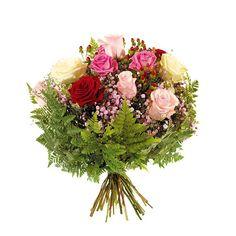 Nova Zelândia - Buquê Nobre 12 Rosas Coloridas