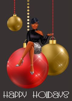Black Christmas, Christmas Art, Christmas Greetings, Christmas And New Year, All Things Christmas, Strong Black Woman Quotes, Black Women Quotes, Black Women Art, Happy Holidays Wishes