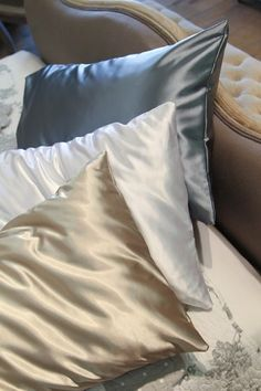 Silk Vs Satin Pillowcase 22 Momme Silk Housewife Pillowcase  Pinterest  Housewife Bed