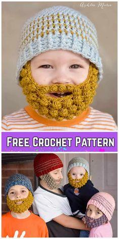 6bb1aecf535 DIY Crochet Bobble Beard Hat Free Pattern-Video
