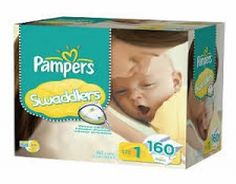 Pampers Swaddlers size 1  Pampers Swaddlers has a blanket of superior softness that gives babies the feeling of comfort and security. It has amazing features such as a color-changing wetness indicator and has gentle yet stretchable sides to give not just a comfortable fit but also flexibility. #babygifts #babyshower #babygear #babyseats #diapers #nursery #strollers