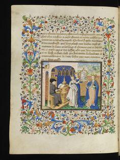 Genève, Bibliothèque de Genève, Ms. fr. 165, f. 145v – Pierre le Fruitier, called Salmon, Traictés de Pierre Salemon a Charles VI roy de Fra...
