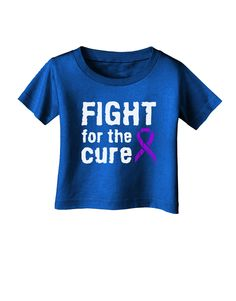 TooLoud Fight for the Cure - Purple Ribbon Epilepsy Infant T-Shirt Dark