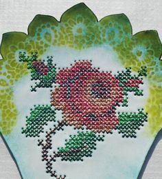 feeling stitchy: Embroidered Enamel