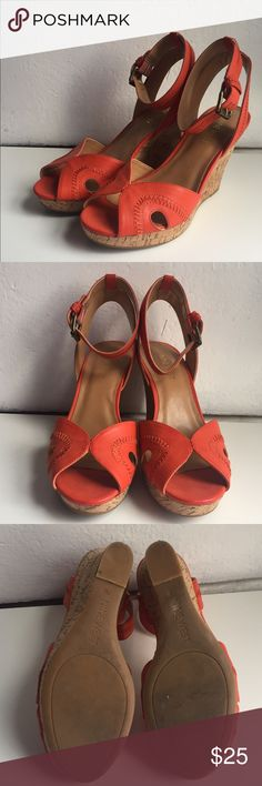 Nine West Wedges Orange Nine West Wedges. Only worn once, in great condition. bought for $40 Nine West Shoes Wedges
