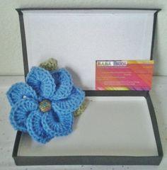 Crocheted Brooch/Corsage/Pin Periwinkle Flower Motif by daddydan, $6.95