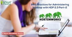 """Missed the #Webinar! Watch the recorded session on """"Best Practices for administering #Hadoop with HDP 2.3- Part 2"""": http://www.springpeople.com/webinars/best-practices-for-administering-hadoop-with-hdp-2.3-part-2?utm_source=Pinterest&utm_medium=Social&utm_campaign=Brand_PI_WB_Hadoop_040716"""