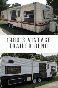 1987 Vintage to Modern Camper Reno *** Whether you love hiking, camping, tracking, fishing or staying home or in the garden, will find a lot of useful gardgets for your enjoyable activities *** Camping Vintage, Vintage Rv, Vintage Motorhome, Vintage Campers, Vintage Airstream, Retro Campers, Vintage Caravans, Vintage Modern, Remodel Caravane