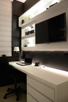 Bedroom Setup, Room Design Bedroom, Room Ideas Bedroom, Home Room Design, Home Office Design, Bedroom Decor, Home Office Setup, Office Ideas, Dream Rooms
