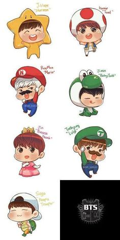 it's so ironic because Luigi has been my favorite character for as long as I can remember and Tae is my ultimate bias XD