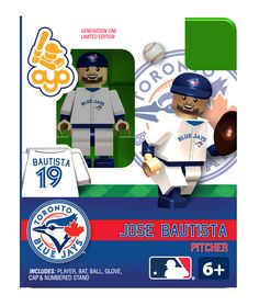 José Bautista, pitcher Toys R Us Games, Mlb Players, Lego Figures, The Outfield, Toronto Blue Jays, Milwaukee Brewers, Sports, Baseball, Corey Hart