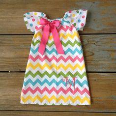etsy spring baby dress | Spring Easter Chevron peasant dress Only baby toddler girl children ...