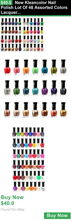 Nail Polish 11873: New Kleancolor Nail Polish Lot Of 48 Assorted Colors Lacquer Full Size Art BUY IT NOW ONLY: $40.0