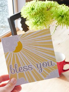 Bless you  Bible verse greeting card by heartsoulmindDesign