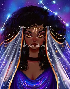 Items similar to Leo art print, leo gift, zodiac print, star sign print on Etsy Zodiac Signs Leo, Zodiac Art, Black Girl Art, Black Women Art, Arte Alien, Zodiac Characters, Anime Zodiac, Digital Art Girl, Magic Art