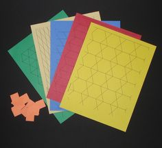 Pattern block Printables to make paper pattern blocks and loads of other free math printables