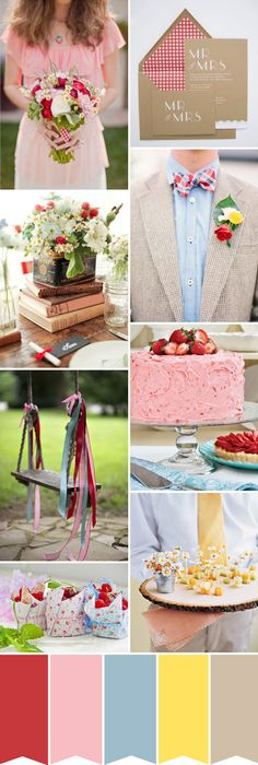 Rustic Picnic Wedding Inspiration | onefabday.com