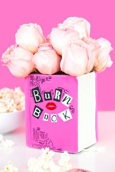 Movie Night! DIY Mean Girls Burn Book Vase