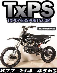 Apollo Dirt Bike, Pit Bike, Dirt Biking, Free Shipping, Motocross, Dirt Motorcycles, Dirt Bikes