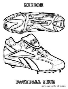 Reebok Baseball Shoes Coloring Books Picture at YesColoring www