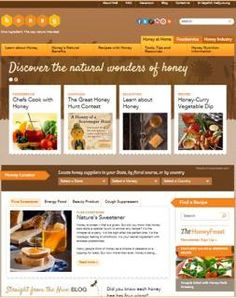 Honey.com Has a New Layout!  It's the first  place to look for honey recipes