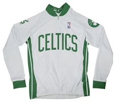 NBA Boston Celtics Womens Long Sleeve Cycling Home Jersey Medium White ** Click image to review more details. (Note:Amazon affiliate link)