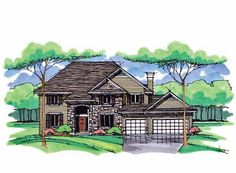 Cottage House Plan with 2950 Square Feet and 4 Bedrooms from Dream Home Source | House Plan Code DHSW69079